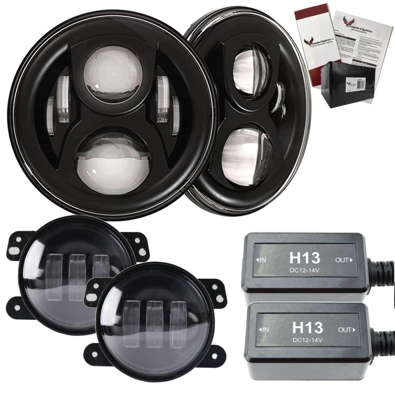 "7"" LED Headlight Kits - Eagle Lights 8700BG2 Generation 2 Headlight For Jeep Wrangler / Hummer - Double Pack*"