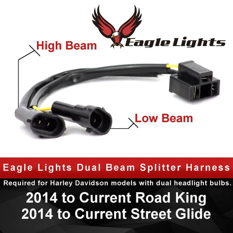 Eagle Lights Splitter Harness converts Dual Beam Headlights to Single LED Headlight