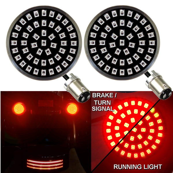 "2"" LED Front Turn Signals - Eagle Lights Generation II Midnight Edition Rear LED Turn Signals"