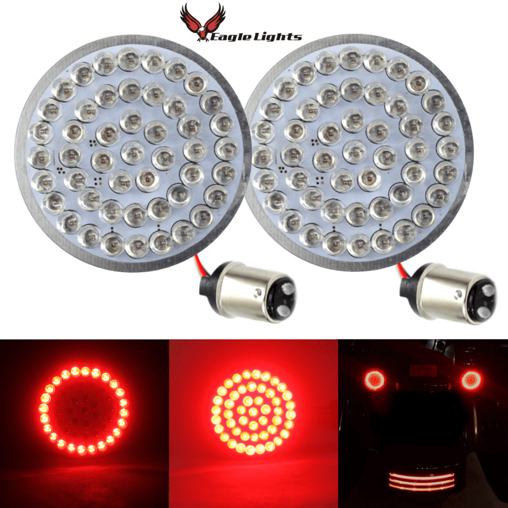 "Eagle Lights 2"" Bullet Style Rear LED Turn and Stop Signal Kit for Harley Davidson - (Bikes w/o Rear Center Tail Light) - (2) Rear Turn Signals"