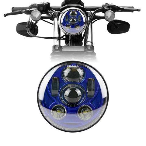 "5 ¾"" LED Headlights - Eagle Lights 5 3/4"" 8900 Series Generation III Blue LED Projection Headlight*"