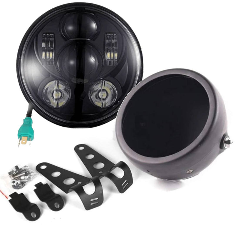 "5 ¾"" LED Headlights - Honda Shadow LED Headlight And Mounting Kit"