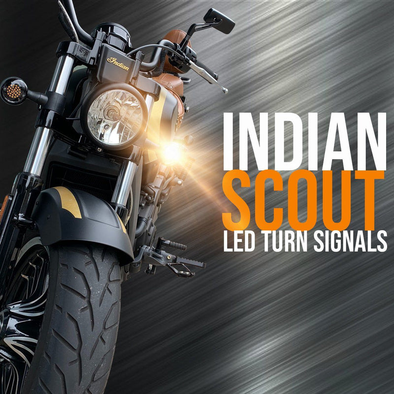 Indian Scout SUNBURST LED Turn Signals - Pair