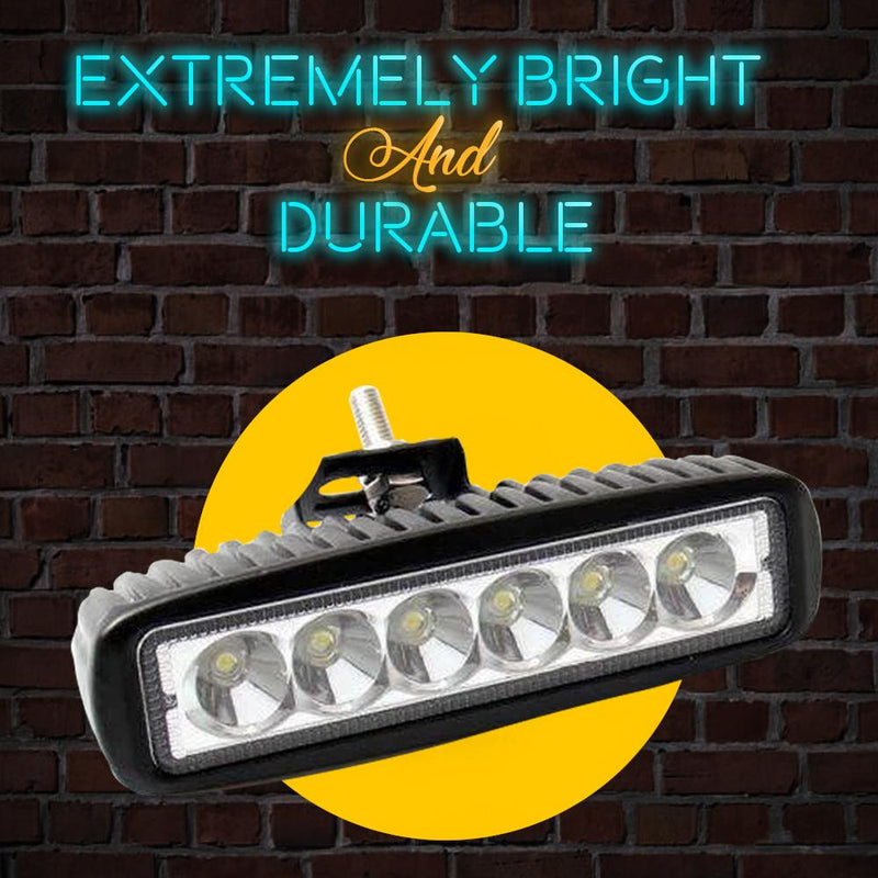 "Eagle Lights Elite Series 6"" LED Light Bar For Harley Davidson Softail and Dyna Models - 2500Lm, Flood Pattern"