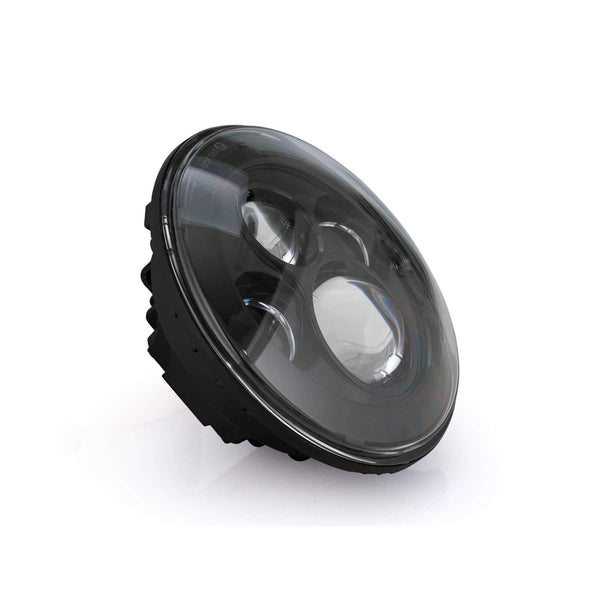"7"" LED Headlight And Passing Lights - Eagle Lights 8700 Black Harley 7"" Round LED Headlight With Matching Black Passing Lamps*"