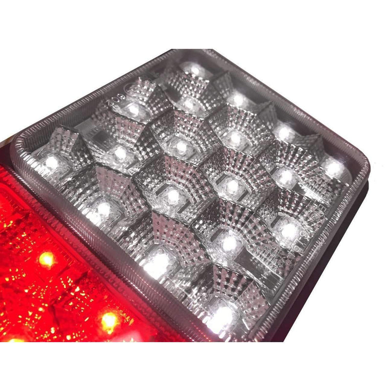 "Rubbolite - Eagle Lights 8002 LED Module - Generation II Rubbolite Universal Rear Lamp Replacement 12V / 24V 4"" X 4"" Lenses- Left / Right - Double Pack"