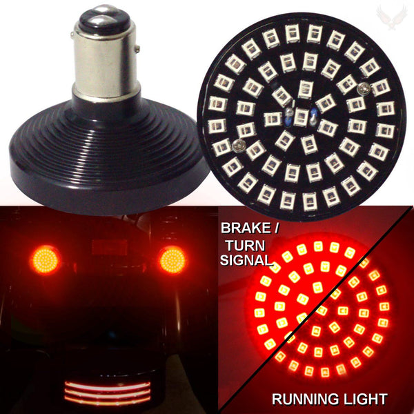 "2"" LED Front Turn Signals - Eagle Lights SUNBURST Rear 2"" LED Turn Signals For Harley Davidson"