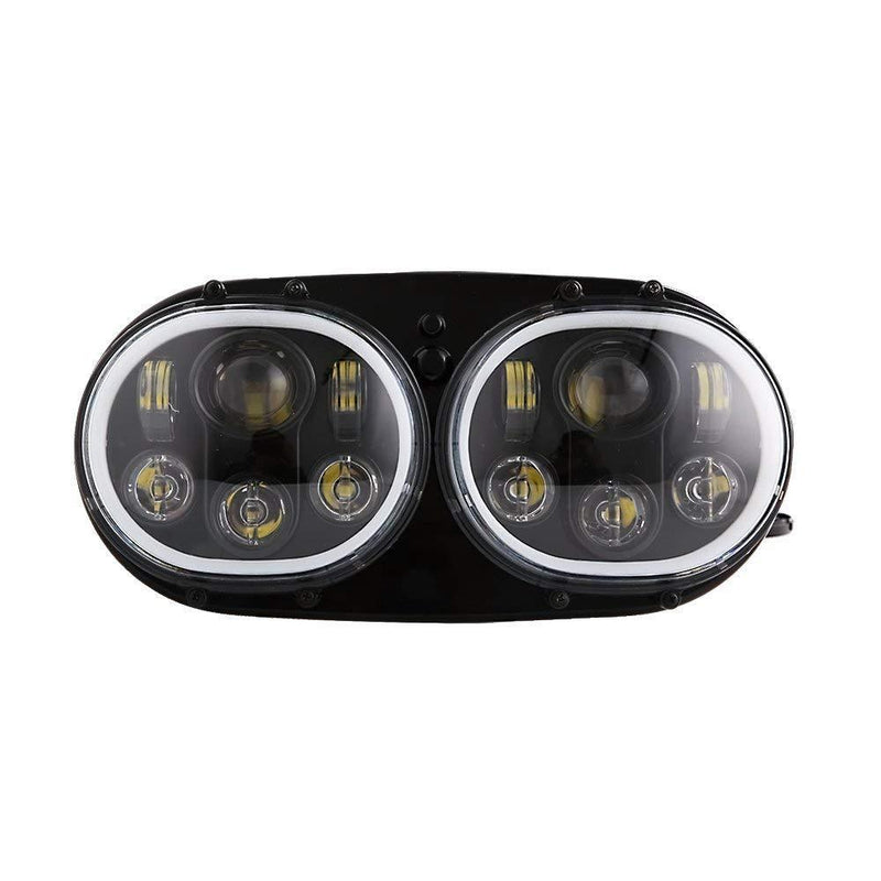 Road Glide LED Headlights - Eagle Lights Road Glide 1998 - 2013 LED Headlight W/Full Halo Ring- Harley Davidson*