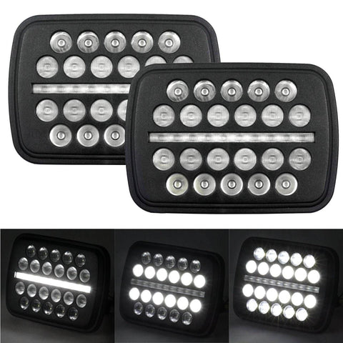 "5 X 7 LED Headlights - Eagle Lights 5"" X 7"" SLIM LINE Multi LED Projection Headlight (2 Lights)"