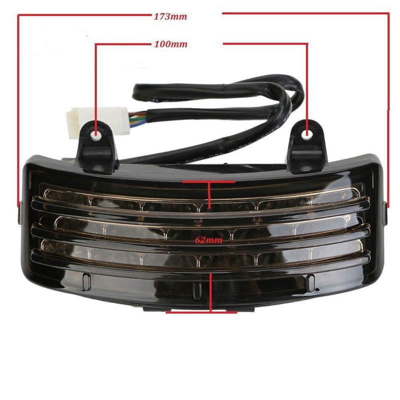 LED Tail Lights - Eagle Lights Smoked TriBar LED Tail Fender Tip Light For Harley Street Glide / Road Glide FLHRX FLTRXS FLHX 06-18 For Harley Davidson