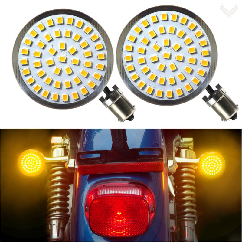 "2"" LED Turn Signal Kits - Eagle Lights LED Generation II Turn Signals (Front (1157) And Rear (1156) LED Turn Signal Kit"