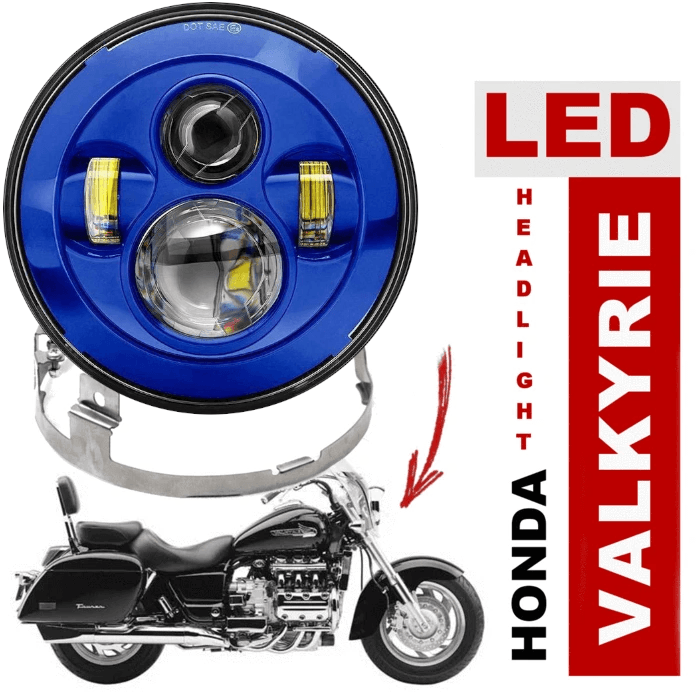 Eagle Lights 1997-2003 Honda Valkyrie Standard and Touring Models Round Projection LED Headlight