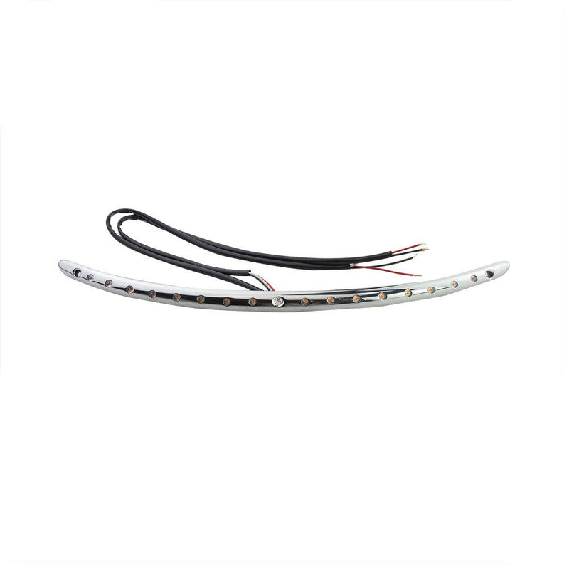 Eagle Lights Chrome Windshield Trim w/ Running Lights + Integrated Turn Signals - Harley Davidson Batwing Fairing 2014-2020 Street Glide Electra Glide