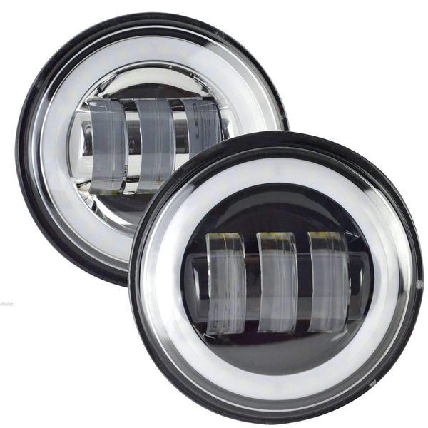 "4.5"" LED Passing Lights - Eagle Lights 8700HP Halo 4.5"" LED Passing Lamps For Harley Davidson"