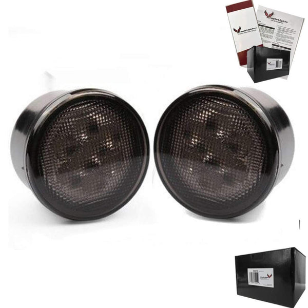 Eagle Lights 8700TS Smoked Amber LED Turn Signals for Jeep Wrangler