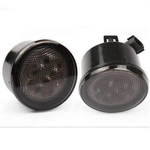 Jeep LED Lighting - Eagle Lights 8700TS Smoked Amber LED Turn Signals For Jeep Wrangler