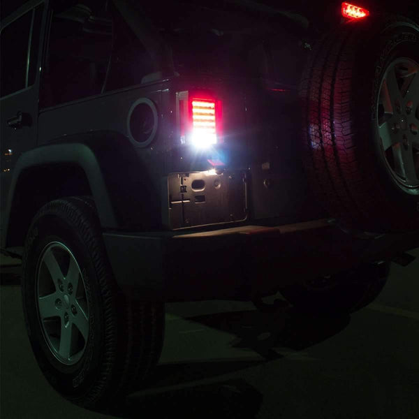 Eagle Lights Black LED Generation II Jeep Tail Lights for Jeep Wrangler