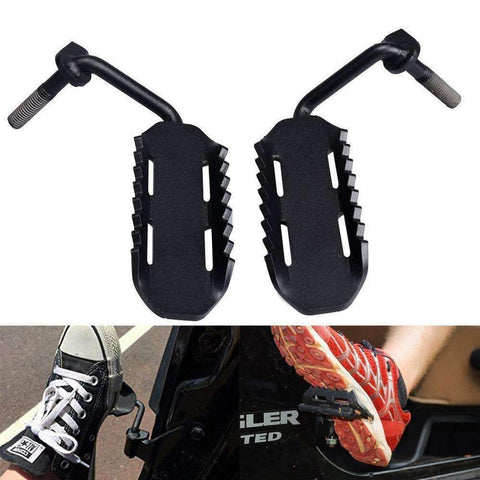 Eagle Lights Black Steel Foot Pegs for 2007-2015 Jeep Wrangler