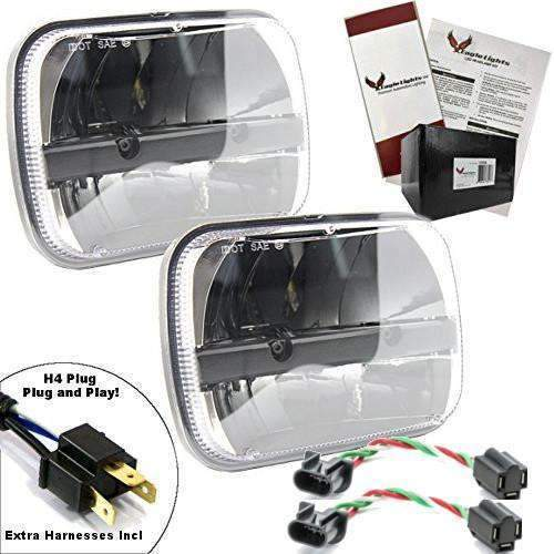 5 X 7 LED Headlights - Eagle Lights Complex Reflector 5 X 7 LED Headlight