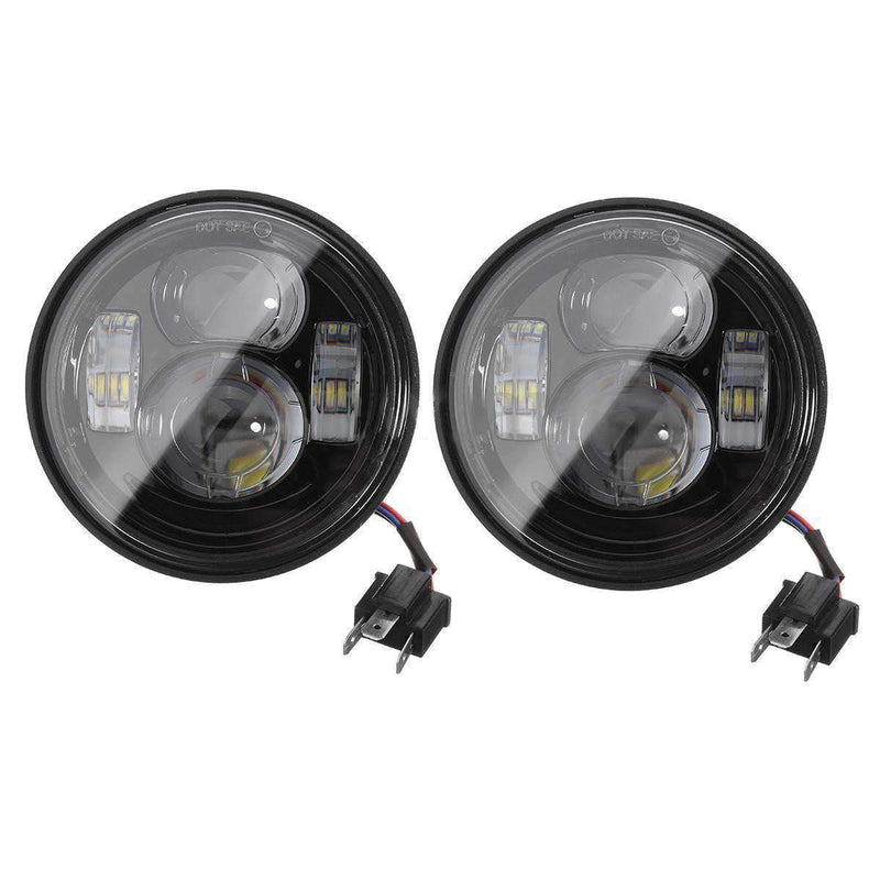 FatBob LED Headlights - Eagle Lights Fat Bob Dual LED Headlight Kit