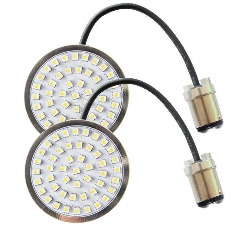 """Eagle Lights 2/"""" Harley LED Front Turn Signals w// Smoked Lenses 1157 Plug n/' Play"""