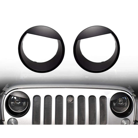 Jeep Accessories - Eagle Lights Jeep Wrangler Angry Eyes Headlight Rings