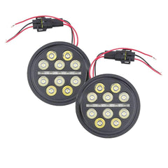 Eagle lights led lights for harleys and jeeps eaglelights eagle lights slim line 45 auxiliary passing led lights for harley davidson and indian motorcycles plug and play connection audiocablefo