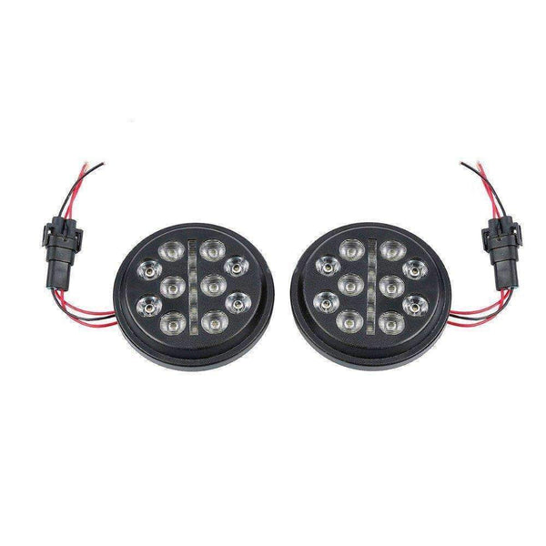 "4.5"" LED Passing Lights - Eagle Lights Slim Line 4.5"" Auxiliary / Passing LED Lights For Harley Davidson And Indian Motorcycles - Plug And Play Connection"