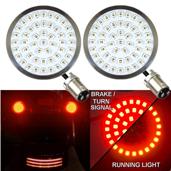 "2"" LED Turn Signal Kits - Eagle Lights LED Generation II Turn Signals (Front (1157) And Rear HALO (1157)) LED Turn Signal Kit"