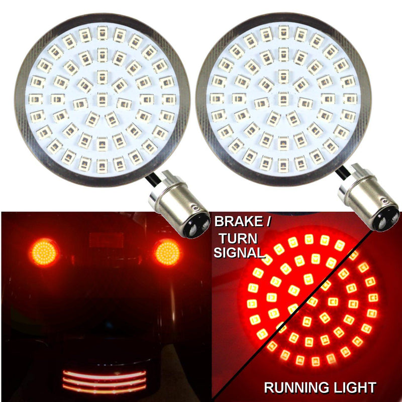 "2"" LED Turn Signal Kits - Eagle Lights LED Generation II Turn Signals (Front (1157) And Rear (1157) LED Turn Signal Kit"