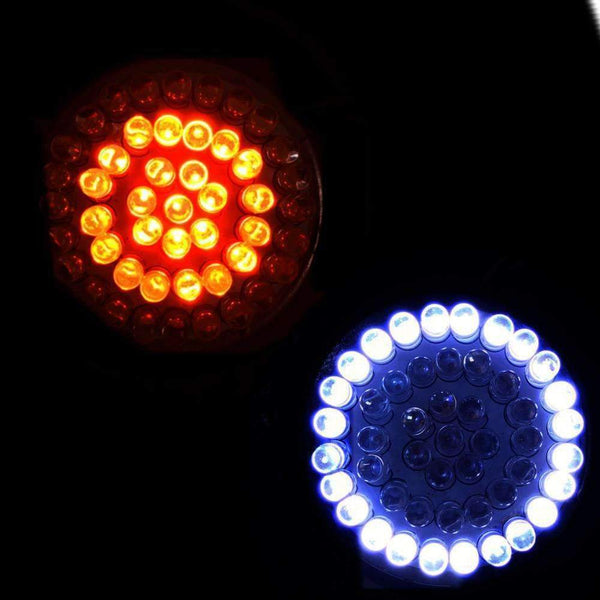 "3 ¼"" LED Turn Signal Kit - Eagle Lights  3 1/4"" Flat Style LED Front (2 X 1157) And Rear Amber (2 X 1156) Turn Signals For Harleys"