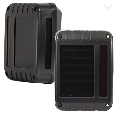 Jeep LED Lighting - Eagle Lights Black LED Generation II Jeep Tail Lights For Jeep Wrangler