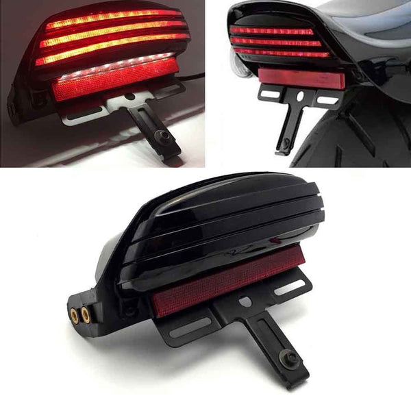 Eagle Lights Bobtail Tri-Bar LED  Tail Light For Harley Davidson '06 - Current Softail FXST, FXSTB, FXSTC, FXSTS and FLSTSB