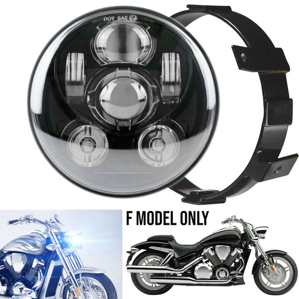 Eagle Lights Generation III LED Headlight For Honda VTX 1300 and 1800 F- MODEL ONLY- Includes VTX Bracket and Hardware
