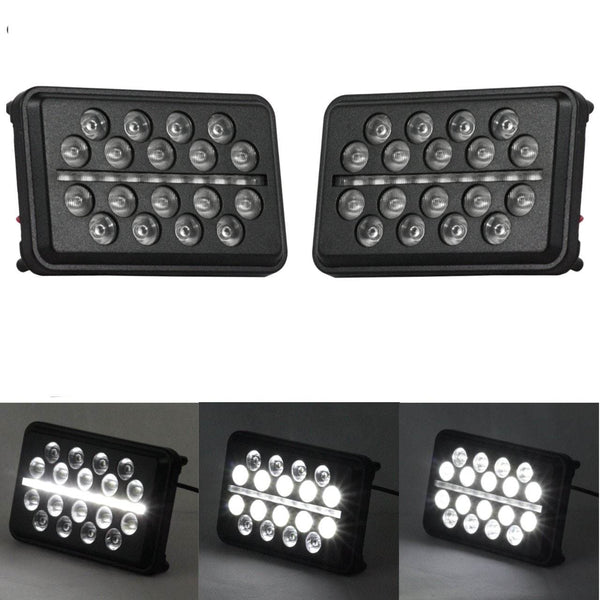 "4 X 6 LED Headlights - Eagle Lights 4"" X 6"" SLIM LINE Multi LED Projection Headlight"