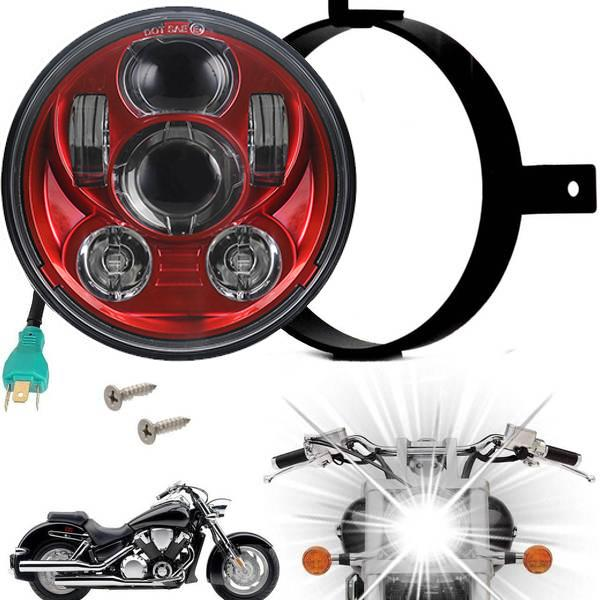 Eagle Lights Generation III LED Headlight For Honda VTX 1300 and 1800 - Includes VTX Bracket and Hardware