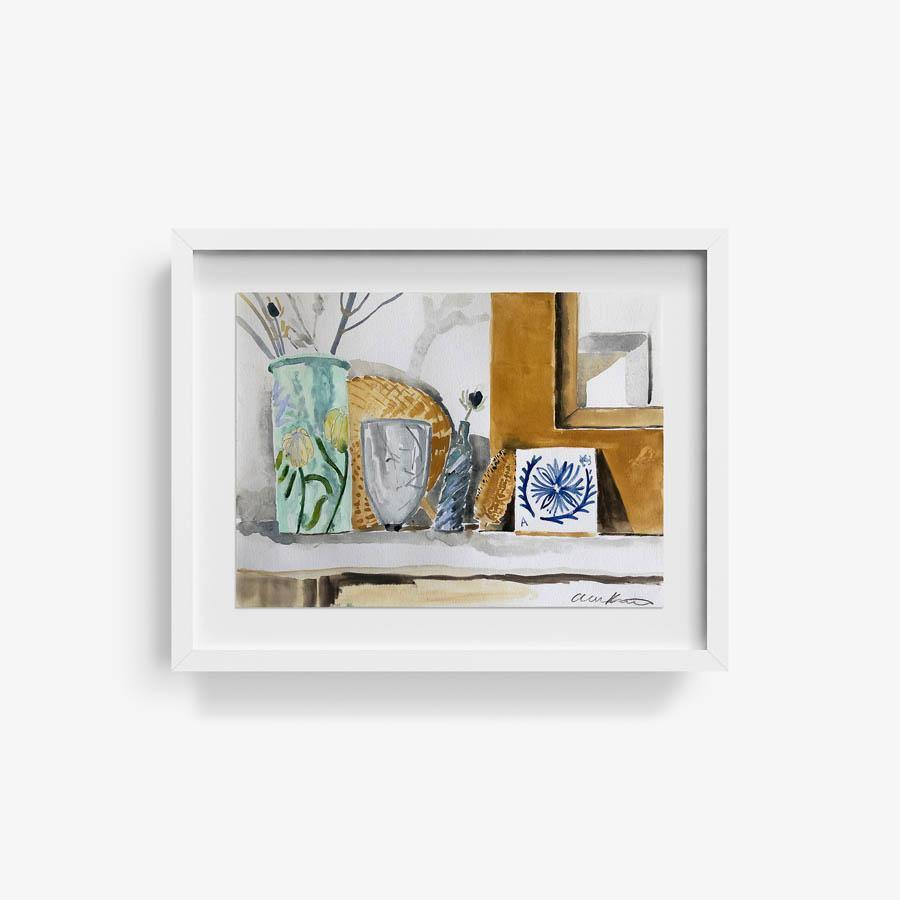 Bedroom Mantle, Original Work on Paper  by  Bedroom Mantle Tappan