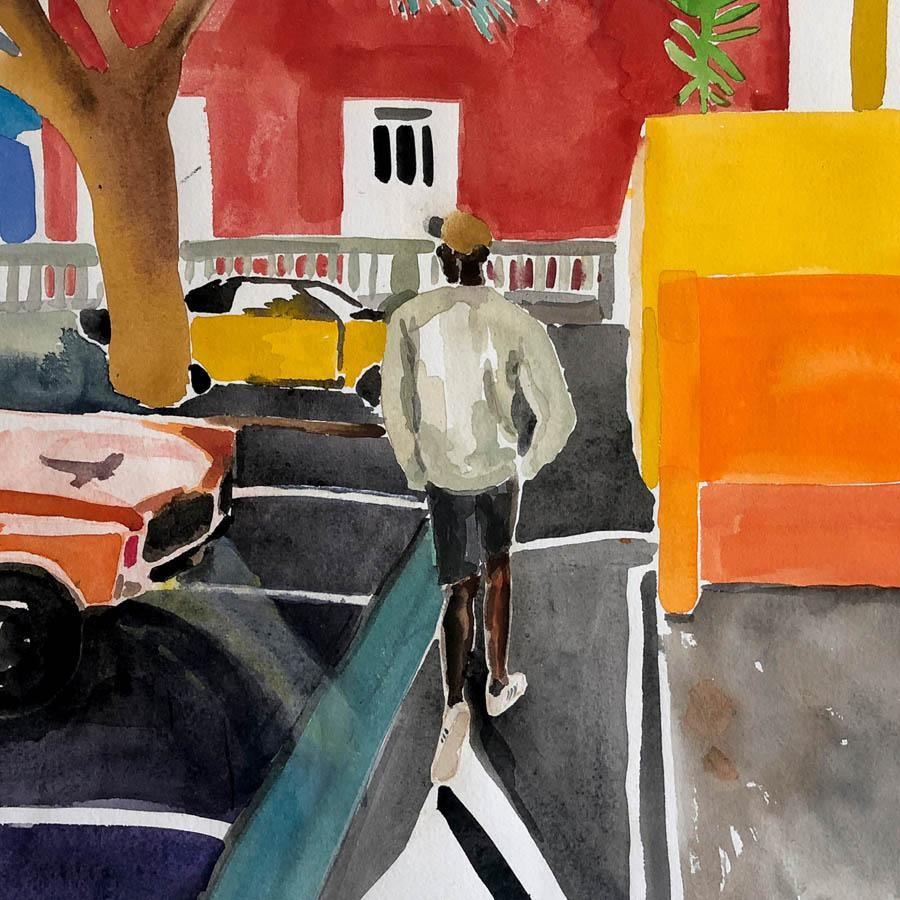 Chris in the Bo-Kaap, Original Work on Paper  by  Chris in the Bo-Kaap Tappan