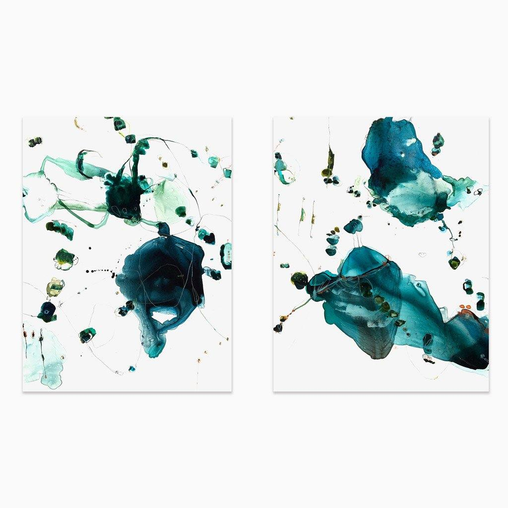 Tidal 9180 (Diptych), Painting  by  Tidal 9180 (Diptych) Tappan