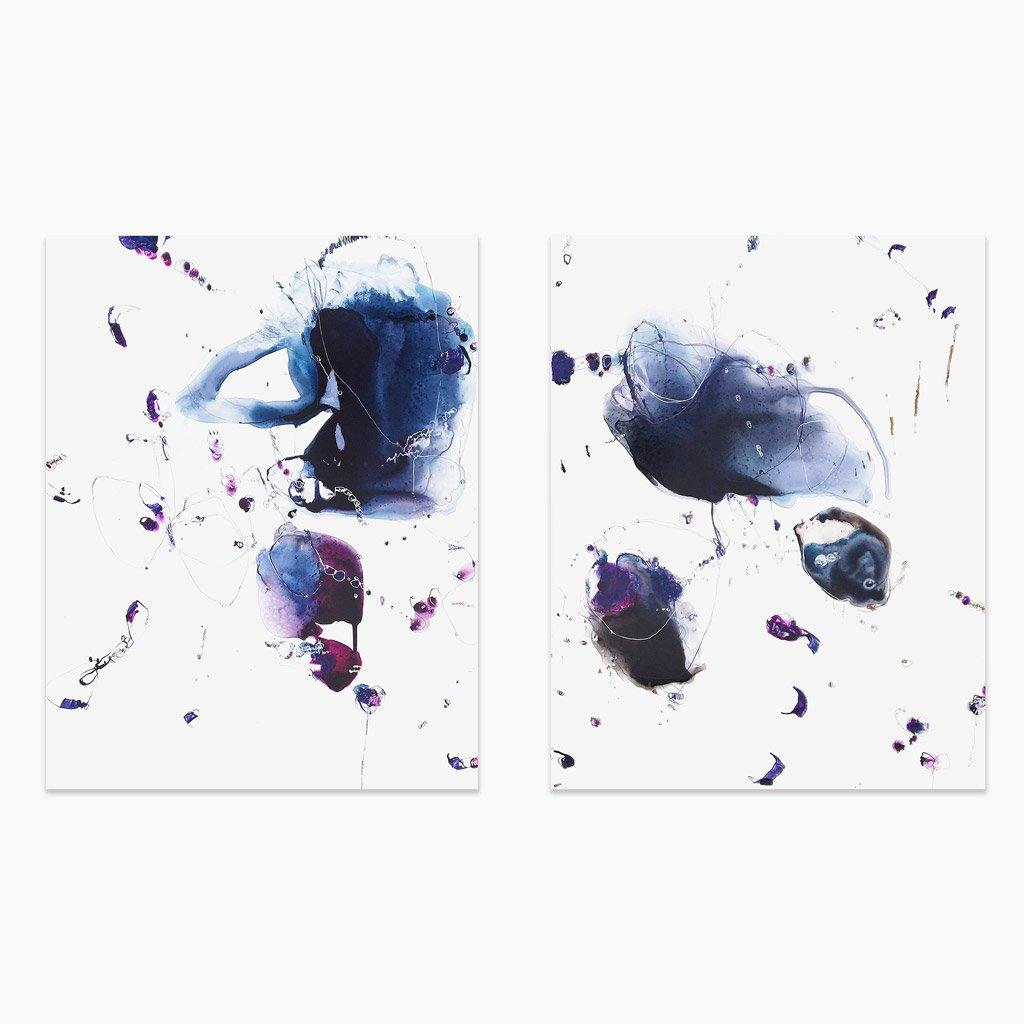Tidal 9181 (diptych), Painting  by  Tidal 9181 (diptych) Tappan
