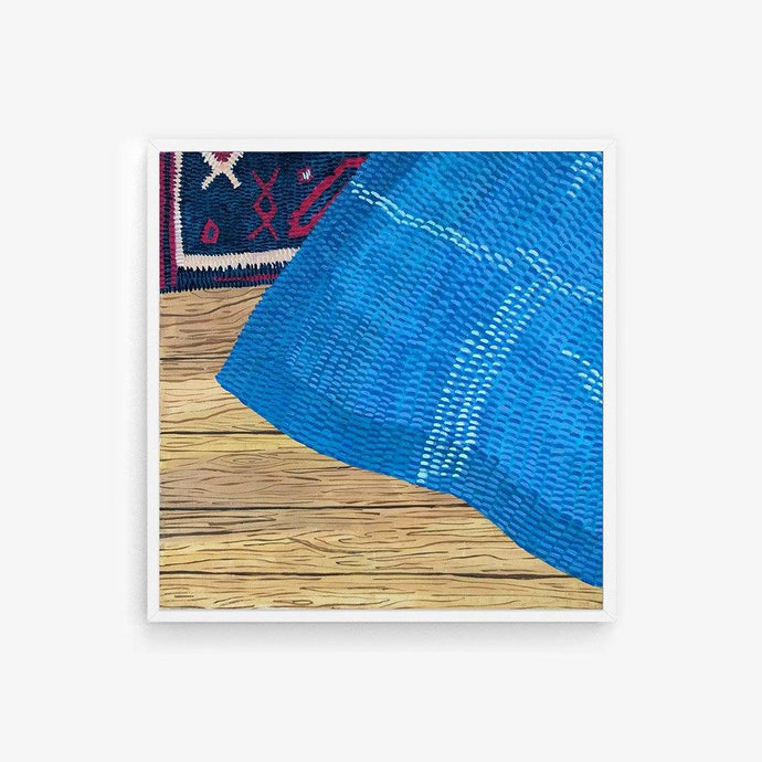 Blue Tapestry on Rug