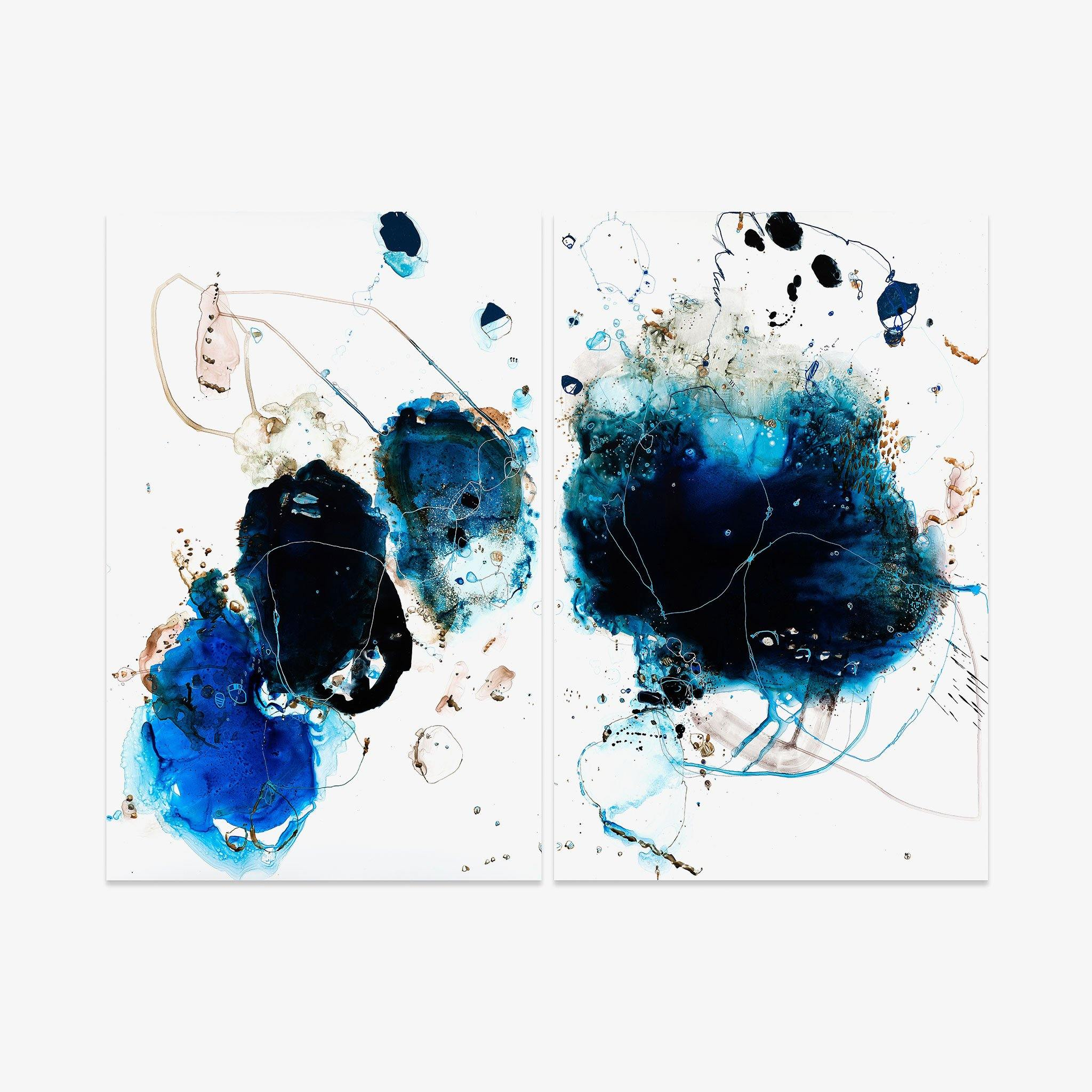 Tidal 9185 (Diptych), Original Work on Paper  by  Tidal 9185 (Diptych) Tappan