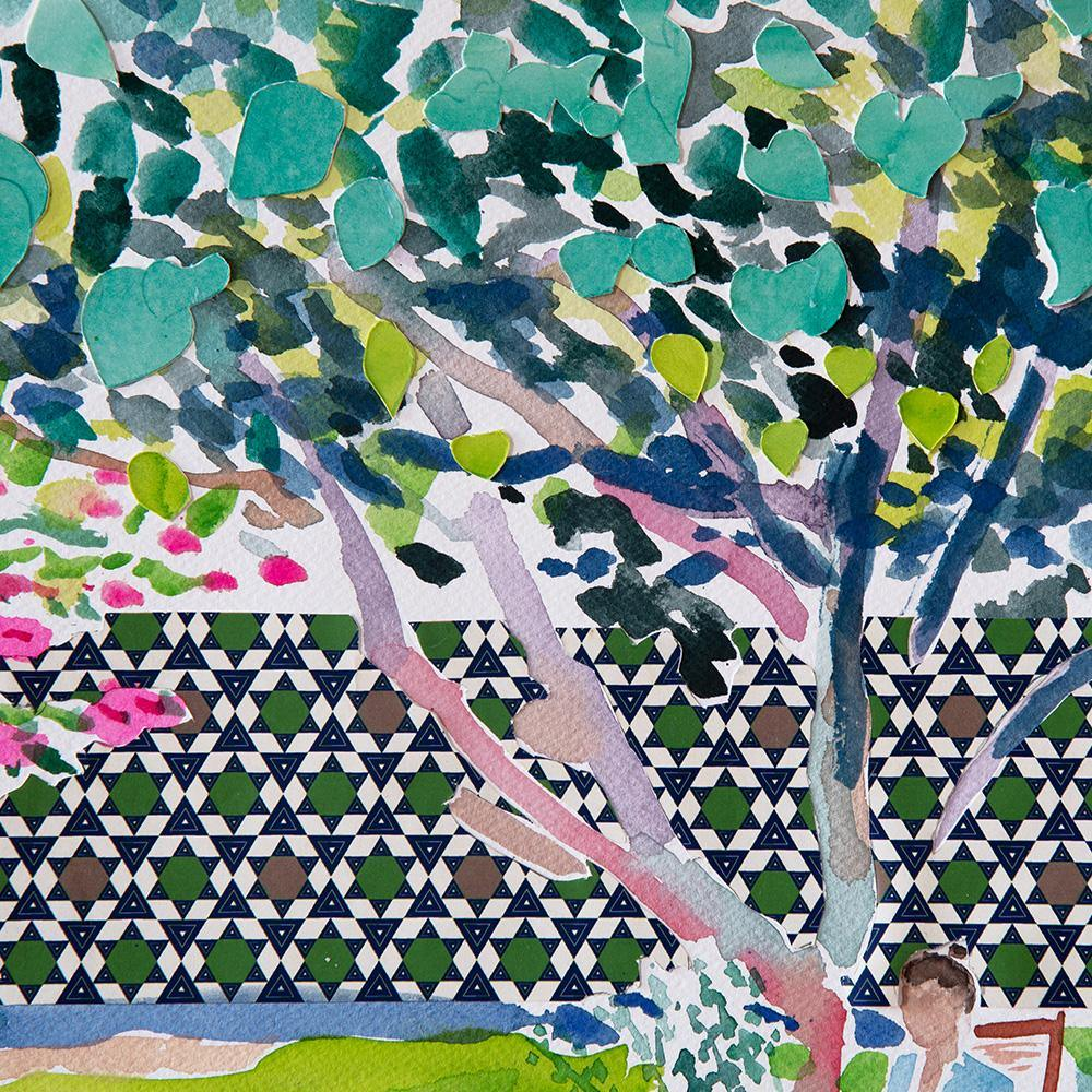 Beneath the Mulberry Tree, Original Work on Paper  by  Beneath the Mulberry Tree Tappan