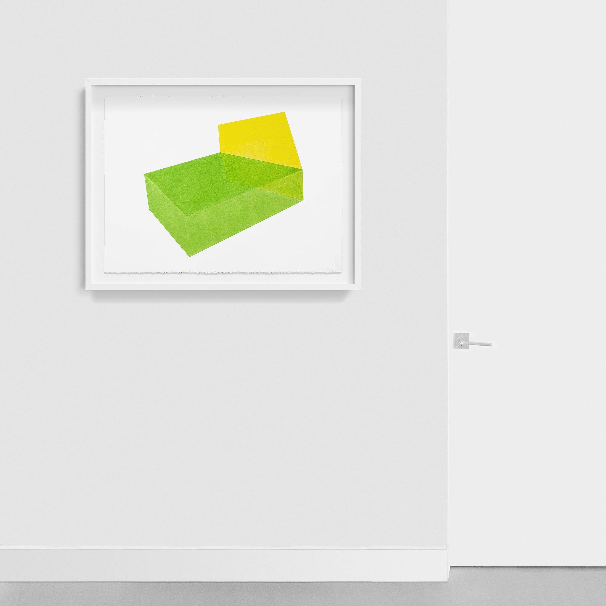 Accidental Happiness, Green + Yellow, Drawing  by  Accidental Happiness, Green + Yellow Tappan