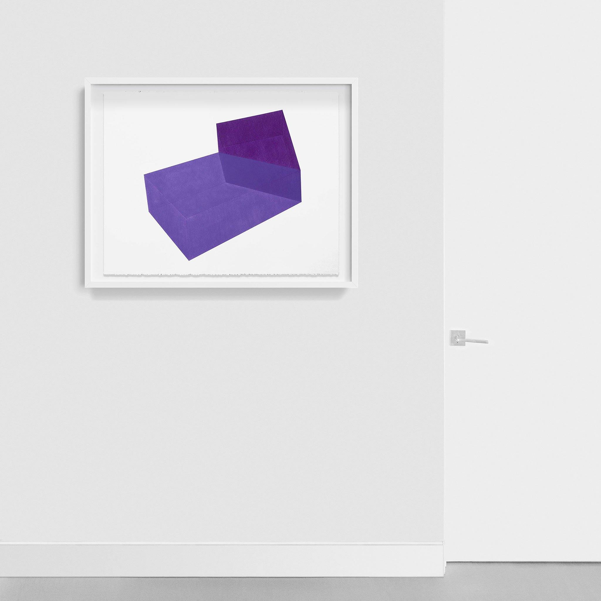 Accidental Happiness, Purple + Purple, Drawing  by  Accidental Happiness, Purple + Purple Tappan