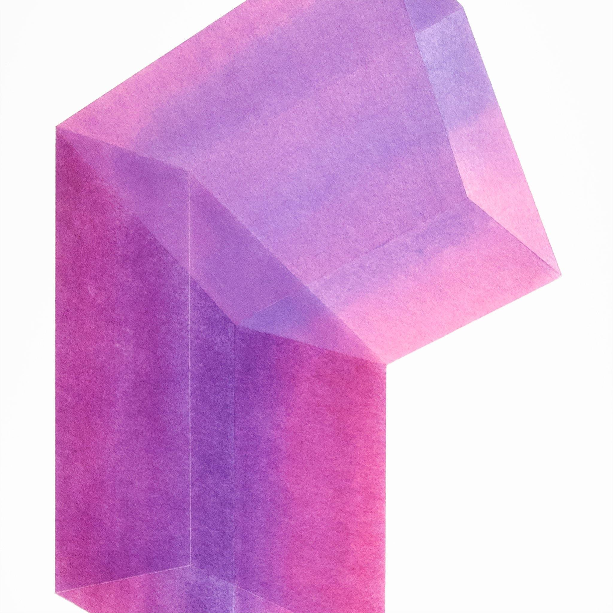 Accidental Happiness (vertical) Purple + Magenta Gradient