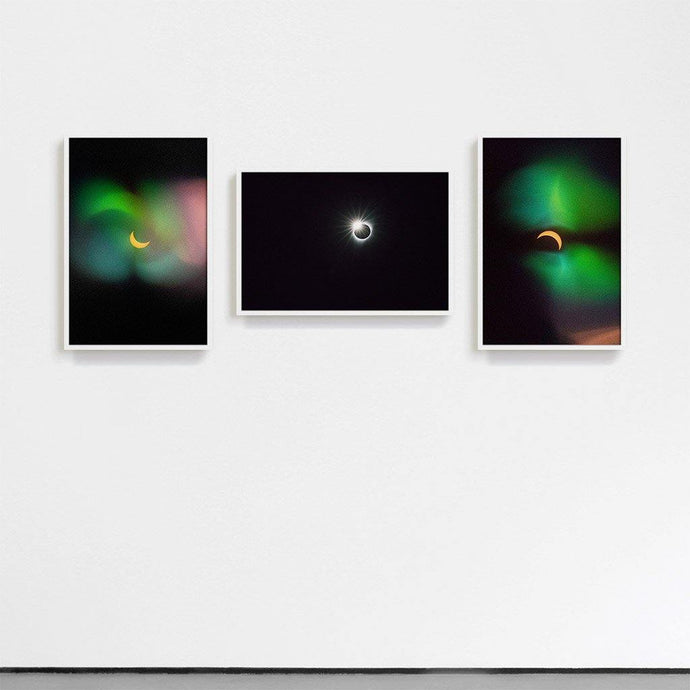 Eclipse 3, Eclipse 8, Eclipse 15 Triptych