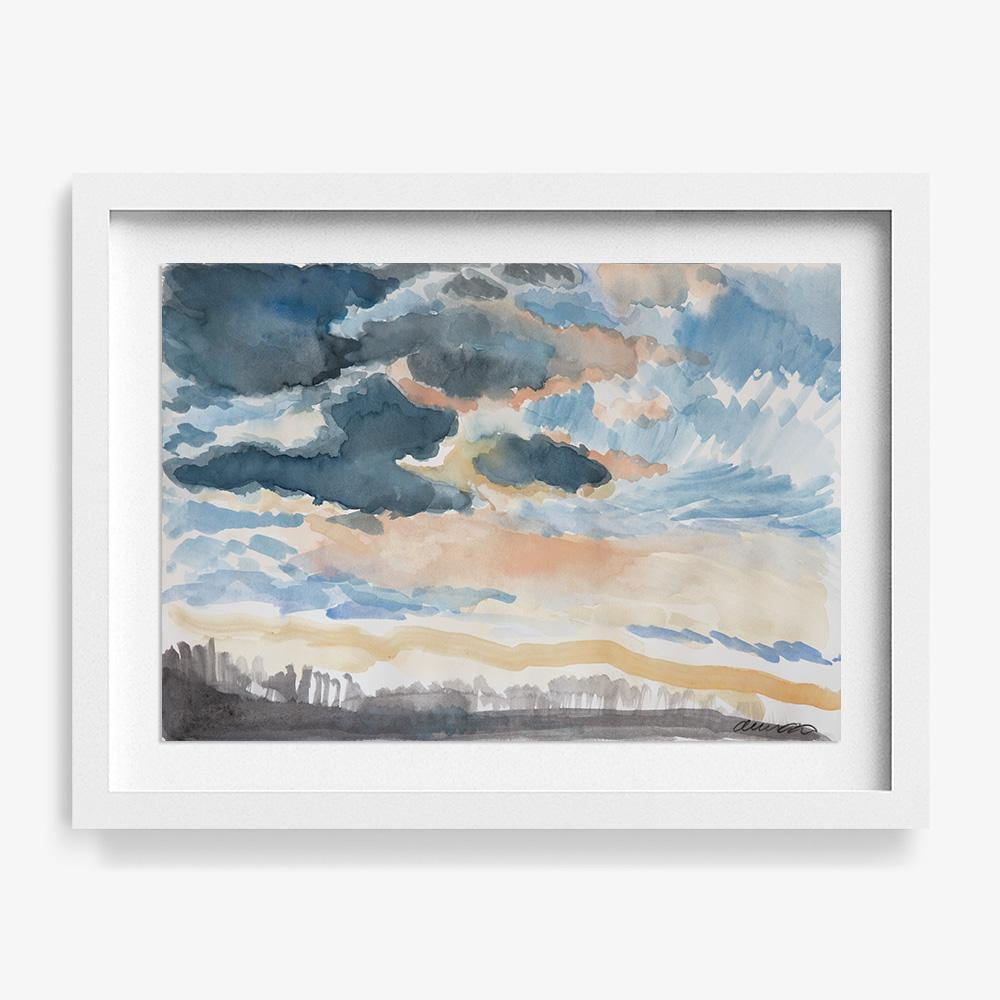 Cloud Study i, Original Work on Paper  by  Cloud Study i Tappan
