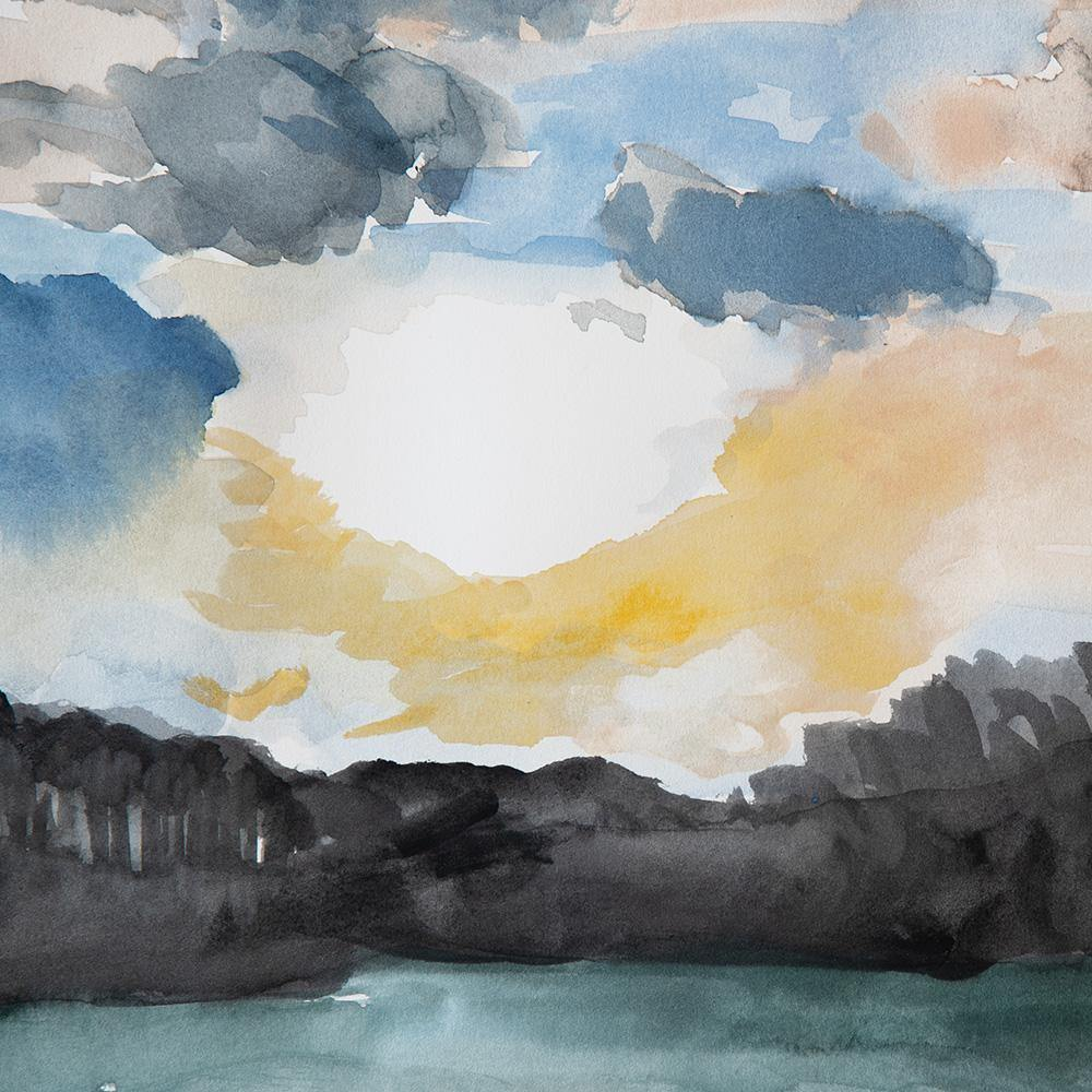 Cloud Study ii, Original Work on Paper  by  Cloud Study ii Tappan