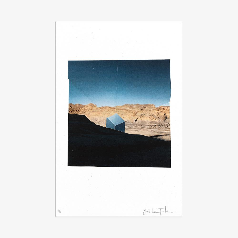 Cube Made of Sky Emerging From Beneath The Shadow of a Prior Mountain, Print  by  Cube Made of Sky Emerging From Beneath The Shadow of a Prior Mountain Tappan